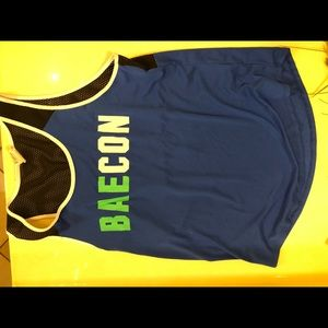 BAECON BACON PINK MUSCLE TEE